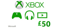 Xbox Live 50 GBP Gift Card