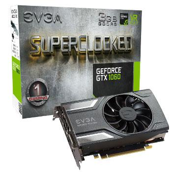 EVGA GeForce GTX 1060 SC Gaming - 3 GB