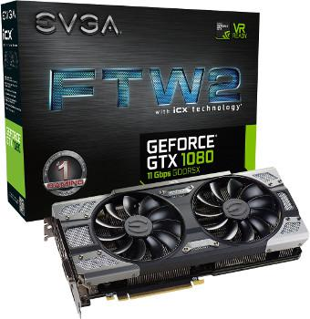 EVGA GeForce GTX 1080 FTW2 Gaming ICX - 8 GB