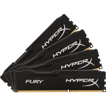 HyperX Fury Black DDR4 4 x 16 Gb 2666 MHz CAS 16