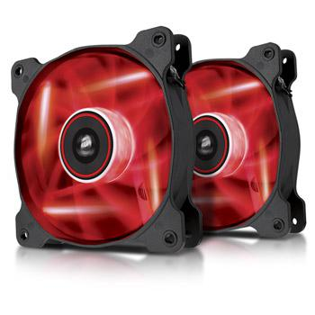 Corsair AF120 LED Red Quiet Edition - Dual pack
